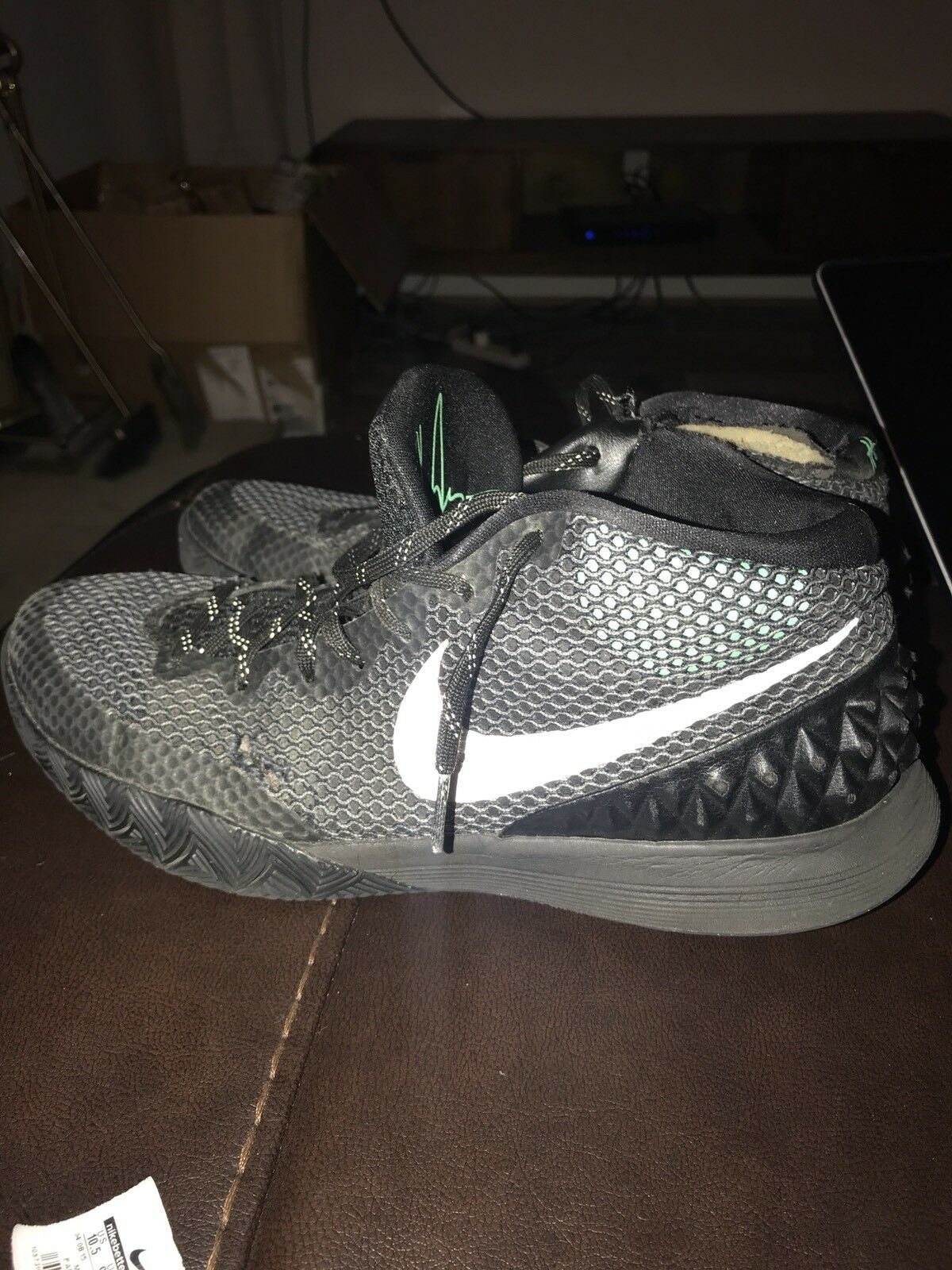 Nike Kyrie 1 Driveway Green Glow Gl705277-001 Basketball Shoes US 10.5
