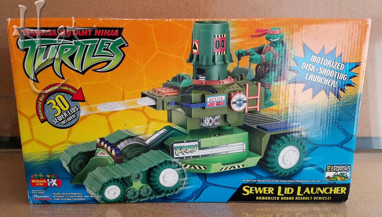 Tmnt kanalisation deckel raketenwerfer armorized angriff fahrzeug 2004 besiegelte ninja turtles