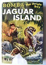 1953 Ed. BOMBA THE JUNGLE BOY ON JAGUAR ISLAND By ROY ROCKWOOD w/DJ