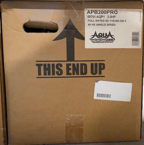 2.0HP Single Speed APB200PRO NEW Swimming Pool Pump Aqua Pro Systems