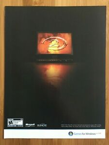 Halo-2-PC-Xbox-2003-Vintage-Poster-Ad-Art-Print-Official-Promo-H2-Original-Rare