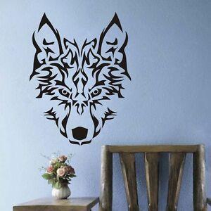 Tribal-Wolf-Head-Wall-Decal-Inspiration-Animal-Wildlife-Living-Room-Vinyl-Decor
