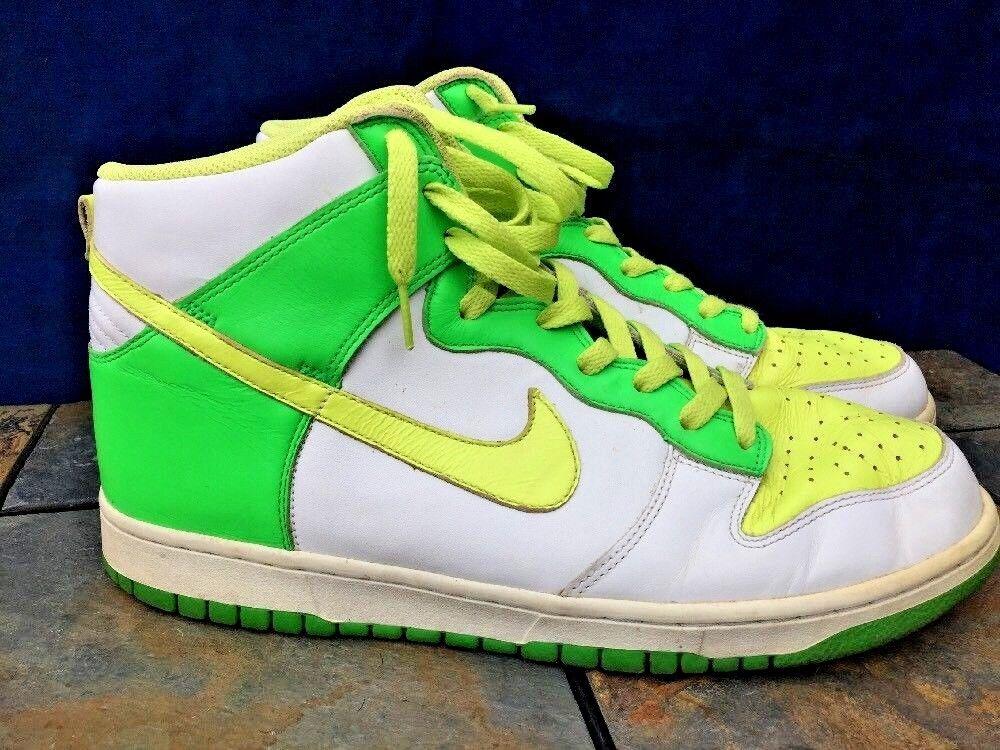 Nike dunk michael jordan lime green lemon lemon green gelbe basketball - Leder schuhe sz 12 6ae81a