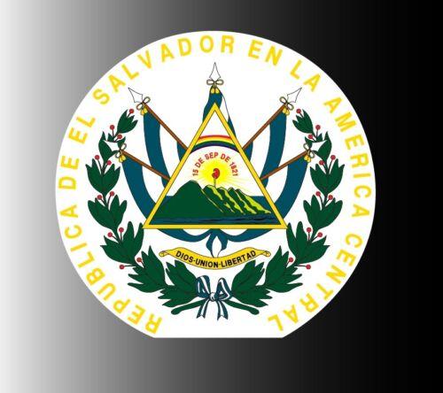 """El Salvador coat of arms sticker vinyl decal 4/"""" x 4/"""""""