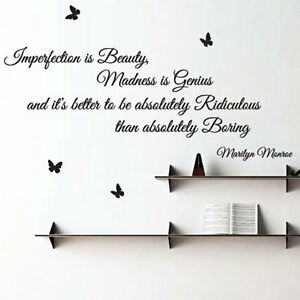 Image Is Loading Marilyn Monroe Imperfection Is Beauty Art Wall Sticker  Part 58