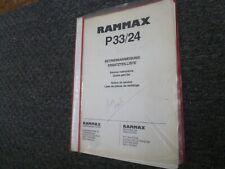 Rammax P3324 Vibratory Trench Roller Parts Catalog Amp Shop Service Repair Manual