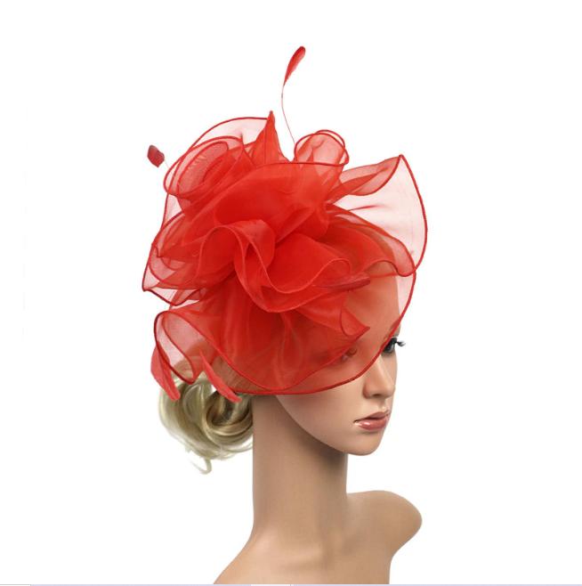 Bridal Sheer Birdcage Veil Headwear Mesh Netted Hat Fascinator Races Accessory