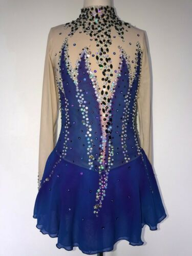 NEW FIGURE ICE SKATING BATON TWIRLING DRESS COSTUME GIRL L Details about  /SALE