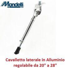 Cavalletto Laterale in Alluminio Lucido Regolabile per Bici 26-28 Corsa Vintage