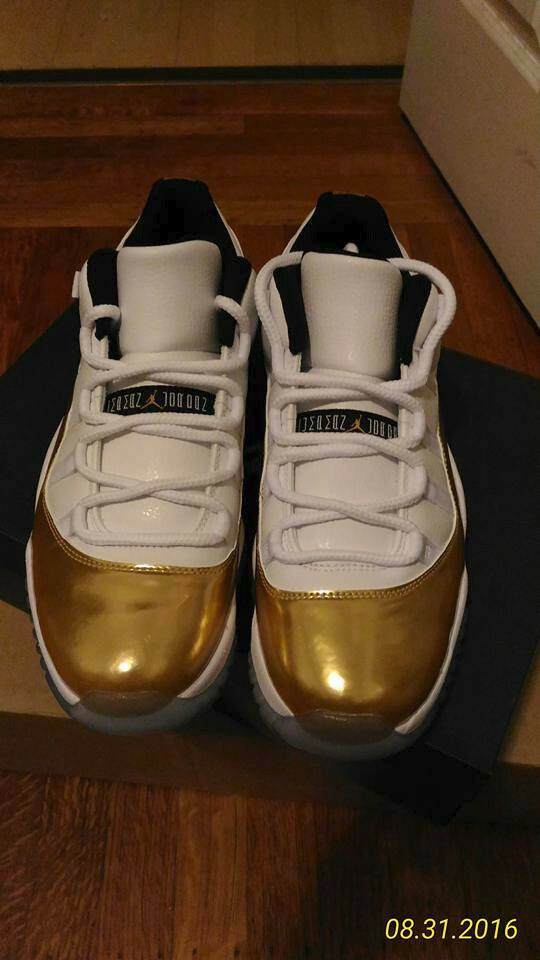 Nike air jordan xi retrò 11 bassa oro (528895-103) cerimonia di chiusura taglia?nuova