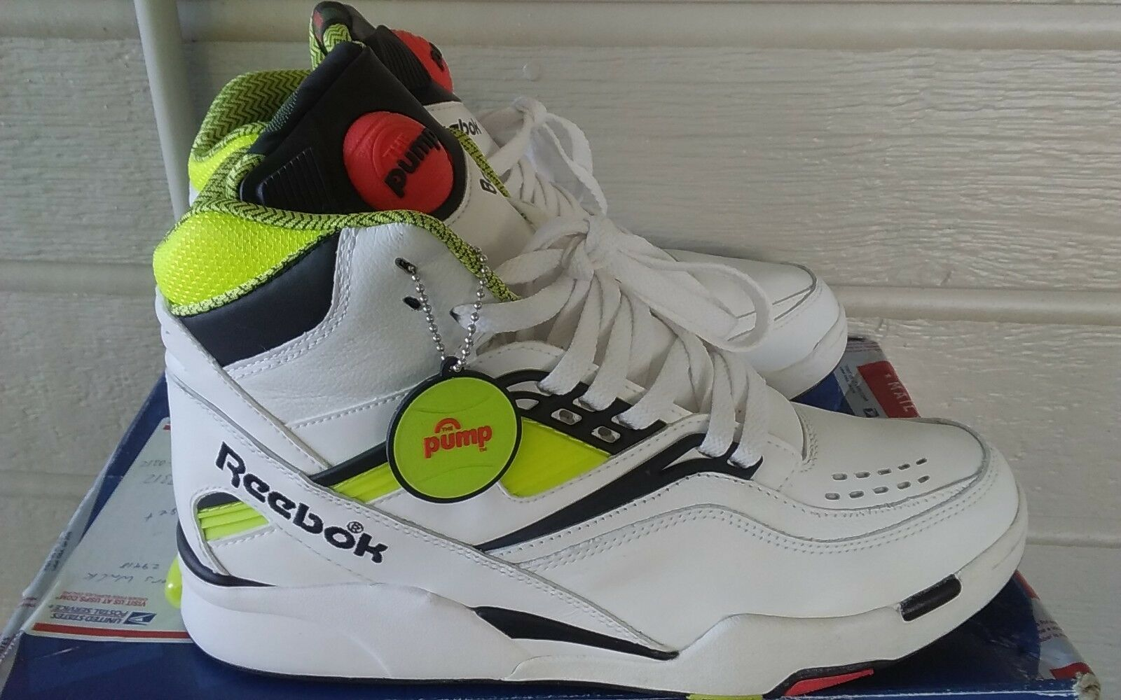 Reebok Twilight Zone The Pump OG Neon  Dominique Wilkins  sz.9 VNDS