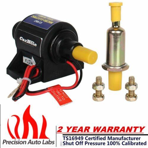 12V Universal 4-7 PSI 5//16inch Micro Electric Gasoline Fuel Pump 35 GPH Transfer