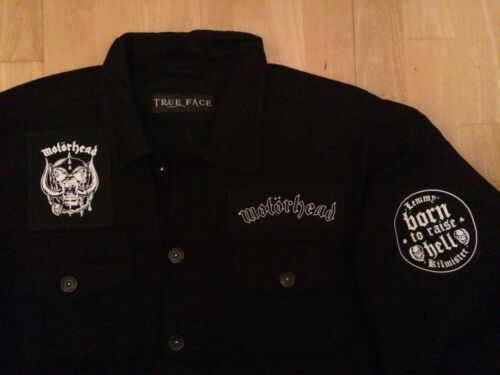 Pig di Black Motörhead Battle Denim Xs off Asso picche Inghilterra War Jacket 6xl cut gUxwx5Sqv