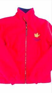 Vancouver-Canada-Yukon-Fleece-Jacket-Womens-Small-Red-Lined-Warm-Long-Sleeve