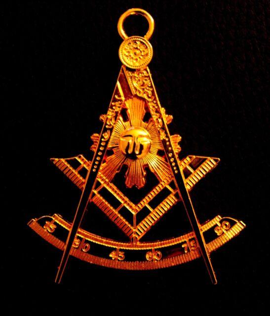 Past Master Silver Tone Jewel For Masonic Collar Regalia