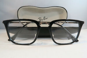 42f94476e3f Ray-Ban Black Glasses New with case RB 7141 5753 52mm 740224335730 ...