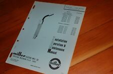 Miller Welder Mmt 200a Mig Gun Spare Owner Operator Operation Maintenance Manual