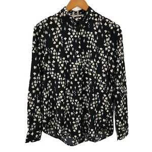 H-amp-M-Women-039-s-Abstract-Printed-Blouse-Shirt-Long-Sleeve-Tops-Size-EUR-34-or-AU-6