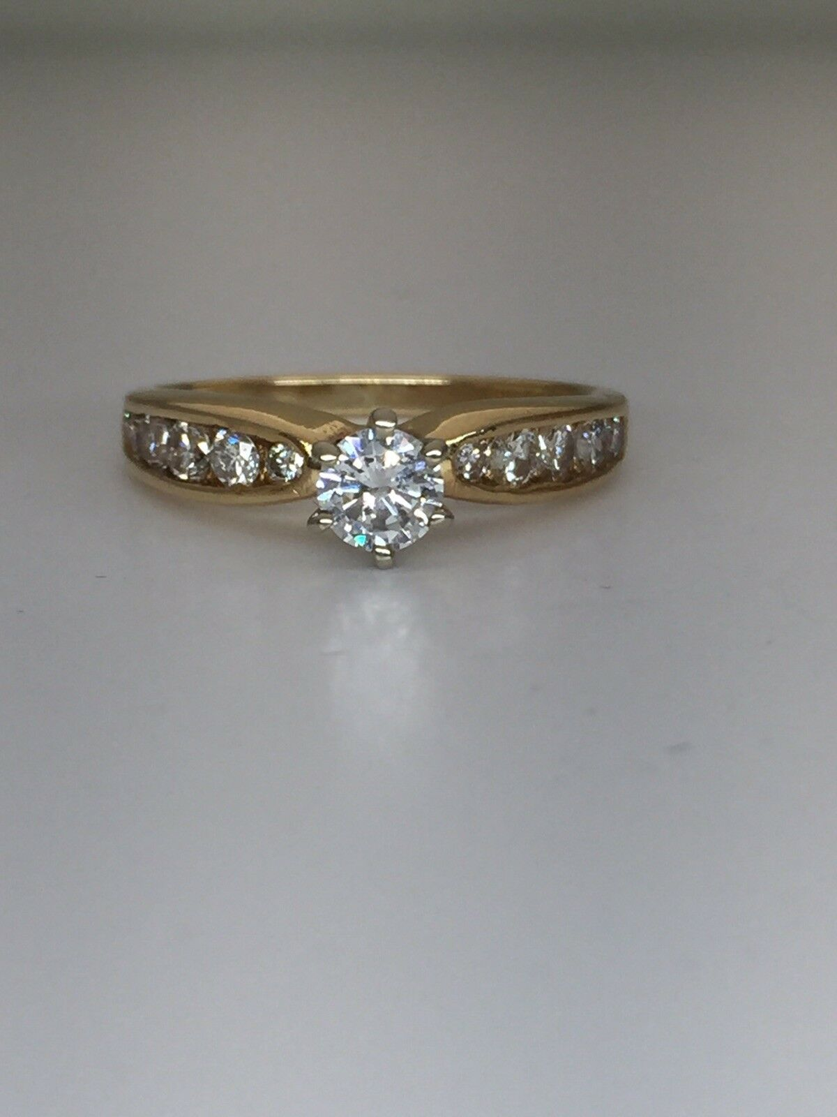 14k Yellow gold Diamond Engagement Ring 0.65ctw. SI2 H Pop That Question