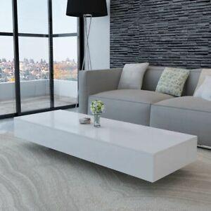vidaXL-Salontafel-Hoogglans-Wit-Witte-Salon-Tafel-Huiskamer-Hoog-Glans-Tafeltje