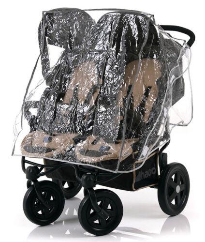 Hauck Universal Regenschutz Regen Verdeck Geschwister kinderwagen zwillinge Baby