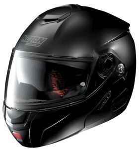 NOLAN-Klapphelm-N90-2-CLASSIC-N-COM-schwarz-matt-Helm-Sonnenblende-Gr-L-60-61