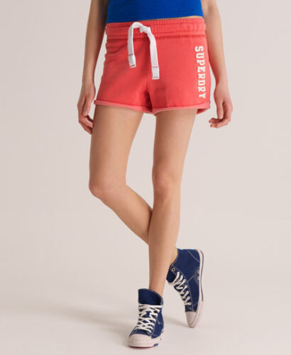 NUOVA linea donna Superdry pantaloncini da spiaggia facile rosa salmone SVD