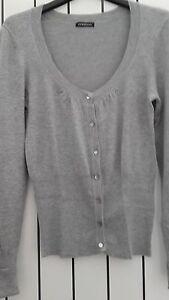 factory price 84081 0841e Dettagli su MOTIVI maglia cardigan donna M grigio perla maglione viscosa  con bottoni