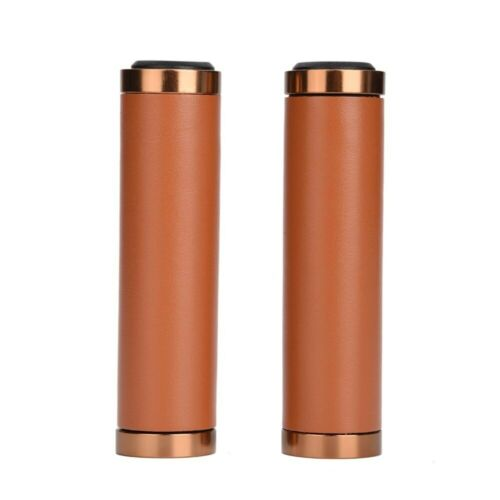 1Pair Cycling Bike Bicycle MTB Handlebar Grips Anti-slip Handle Grip PU Leather