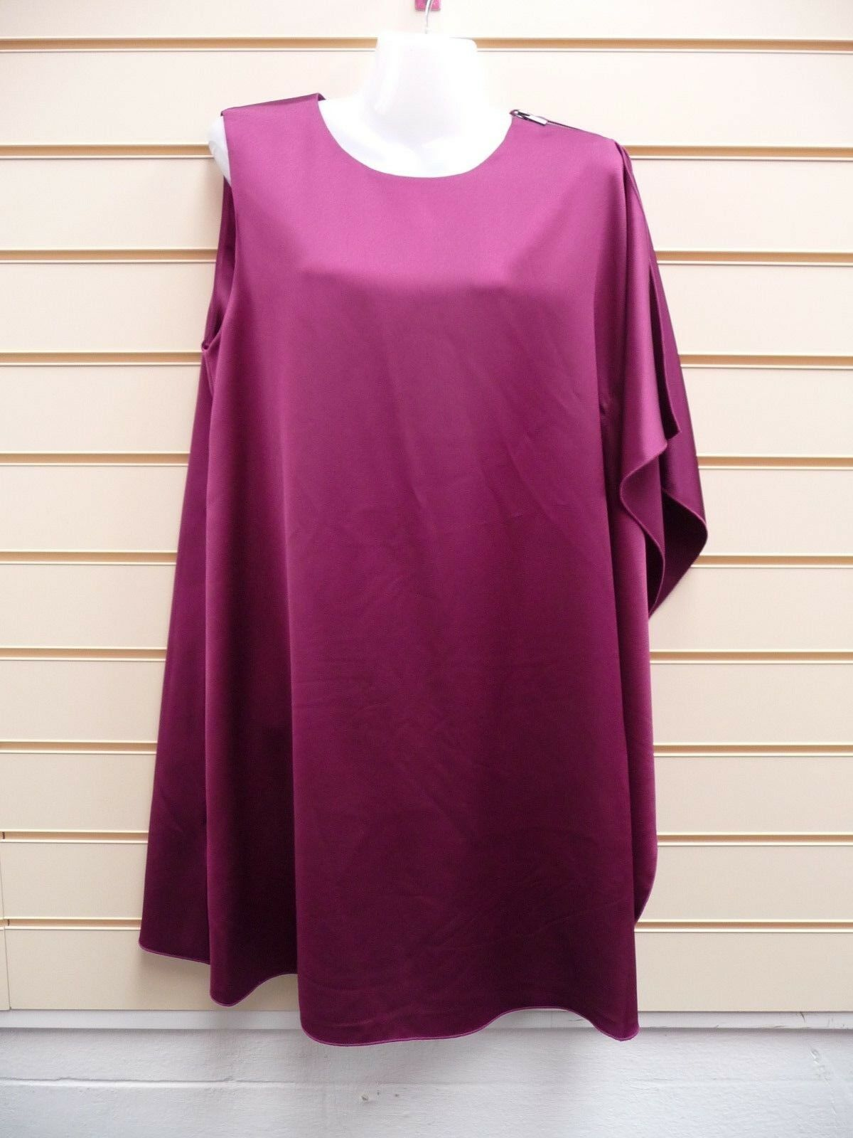 FRENCH COLLECTION DRESS SIZE12,14 DARK MAGENTA PARTY    BNWT   (A001