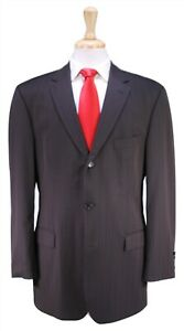 HUGO-BOSS-Scorsese-Movie-Brown-Striped-Super-150-039-s-Wool-3-Btn-Suit-42R