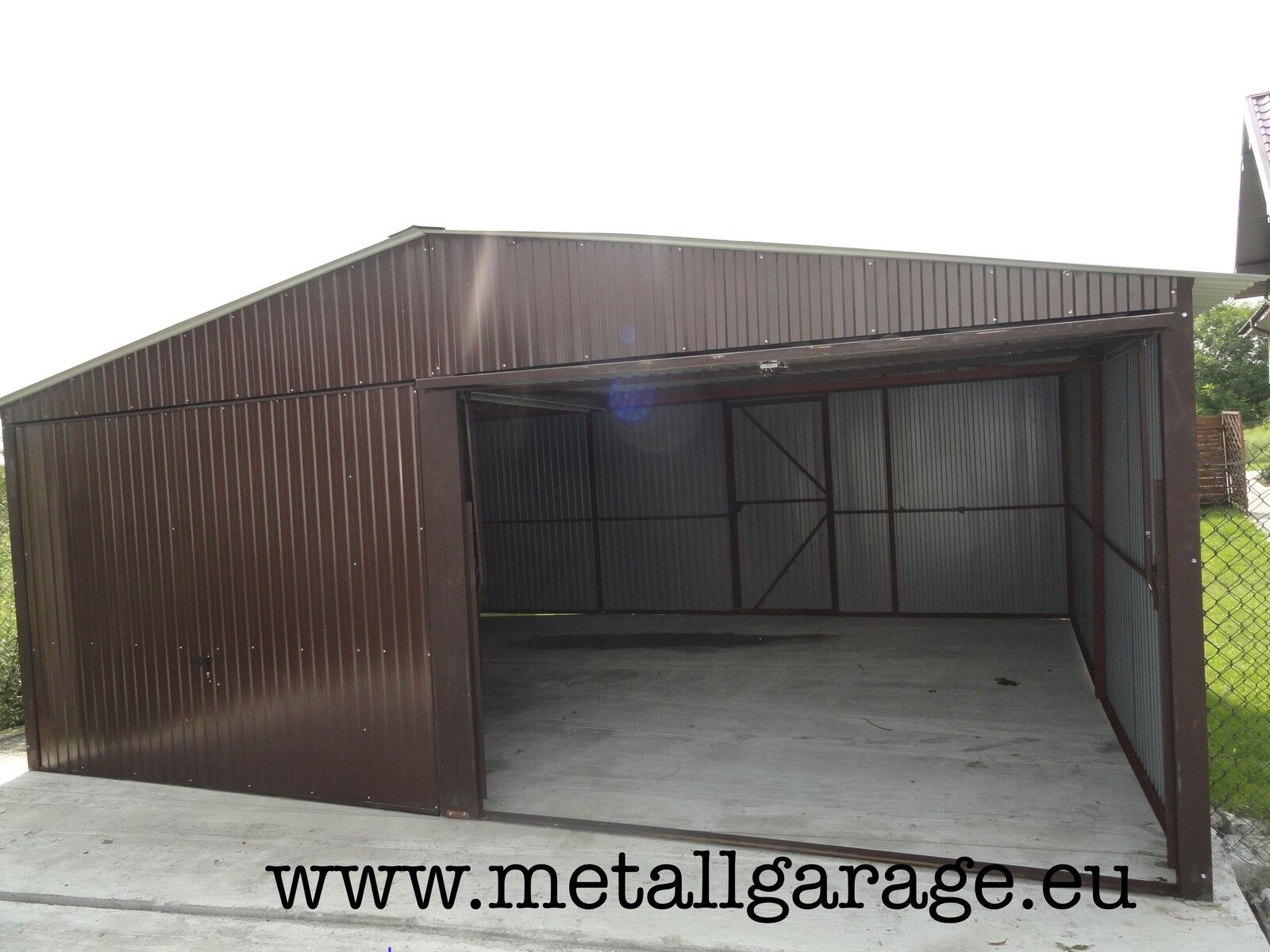 RAL 8017 5x5,0 Blechgarage Fertiggarage Metallgarage LAGERRAUM LAGERRAUM LAGERRAUM RAUM KFZ GARAGE f6520b