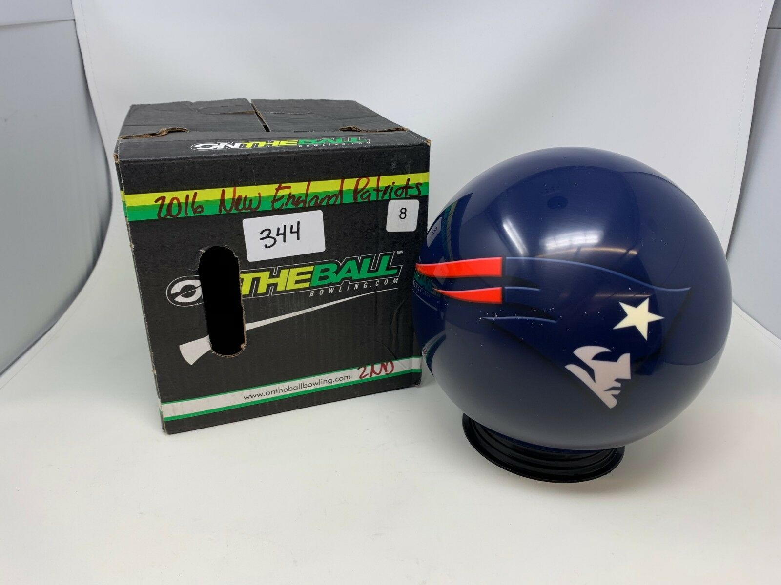 New OTB NFL New England Patriots 8Bowling Ball Viz-a-Ball (344)