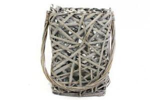 Hanging-Grey-Wicker-Web-Style-Lantern-Glass-Hurricane-40cm