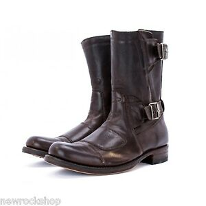 154b8c3389a Details about Sendra 8279 Unisex Cowboy Boots Dark Brown Leather Western  Biker Handmade