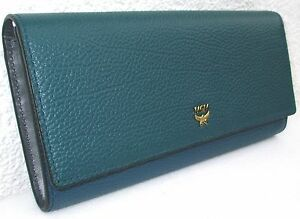 Cm Unbenutzt Flap Milla grün Mcm 19 Wallet Blau HSY6Wcnq0c