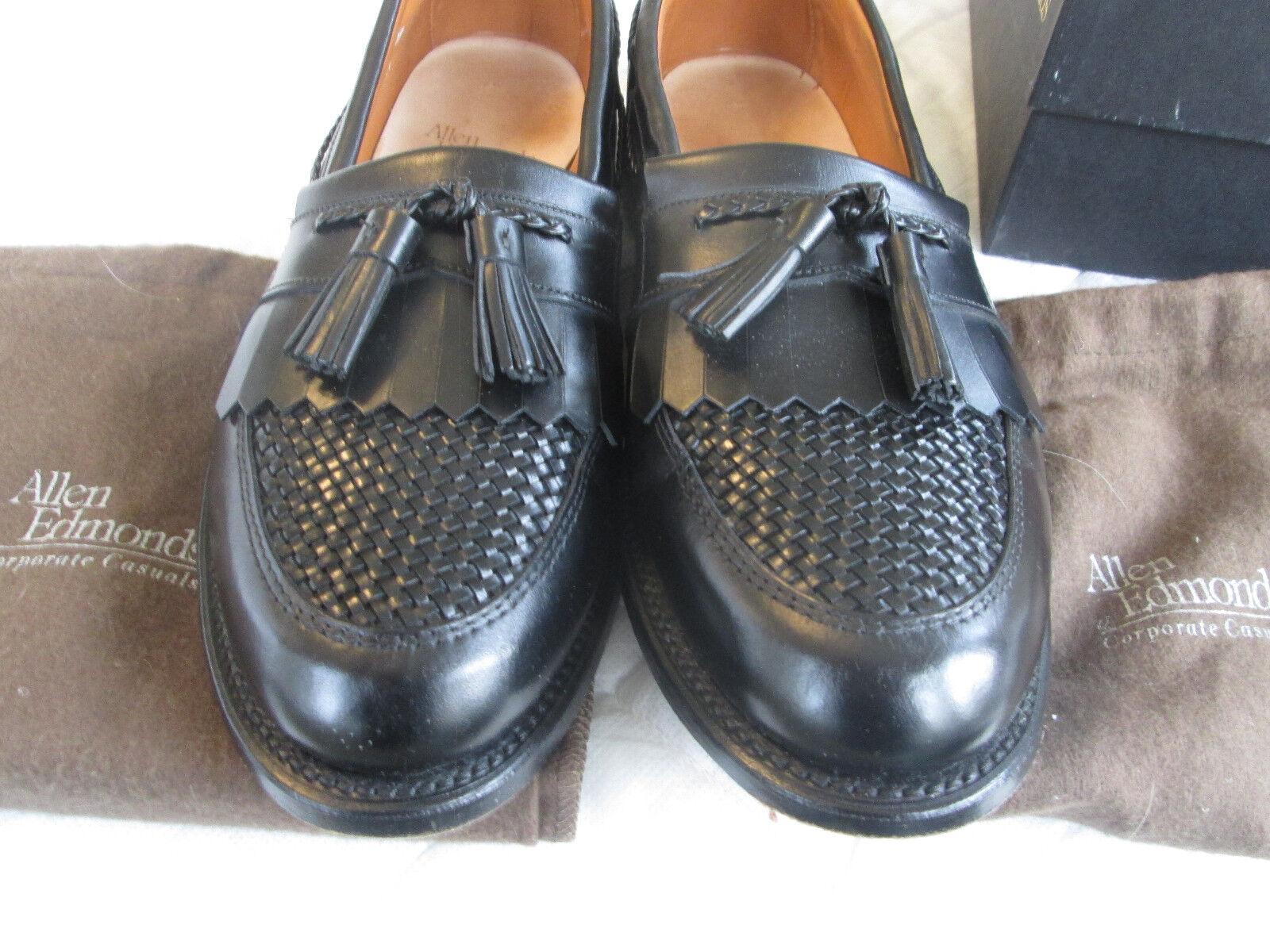 Zapatos de vestir Allen Edmonds CODY Mocasín para hombre 11B 11 B negro muy bonito