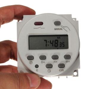 LCD Zeitschaltuhr Digital DC/AC 12V 16A Timer Programmierbar Schalter Zeit Gut