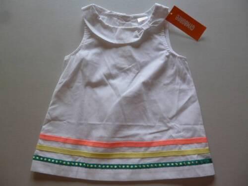 Gymboree Sunny Citrus White Top Shirt Ribbon Trim 6-12-18-24 mos  4T 5T NEW