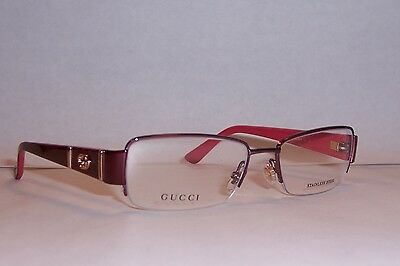 NEW GUCCI EYEGLASSES GG 2878 GG2878 MI0 RED 52mm RX AUTHENTIC