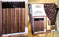 Safari Chic Shower Curtain Springmaid Luxury Leopard Cheetah Velvet Voila  Fabric