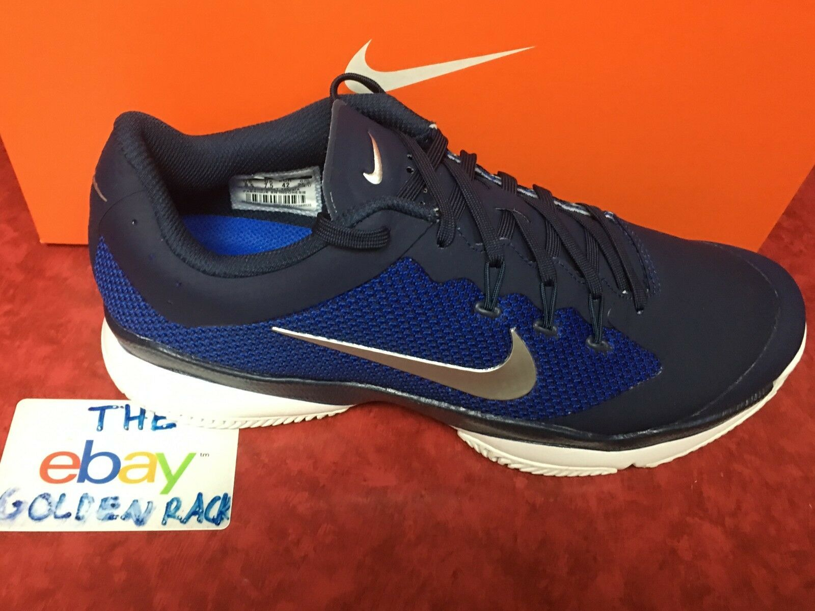 Men's NIKE Court Tennis Air Zoom Ultra Navy Shoes Size US 8.5 - 845007-440