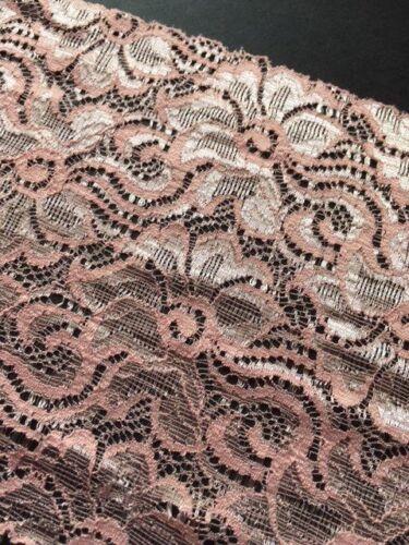 """Rosa salmón laverslace Hermoso Ancho Floral estiramiento del cordón 6/""""//15cm"""