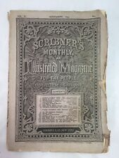 Scribner's Monthly Illustrated Magazine for the People Old Antique November 1875