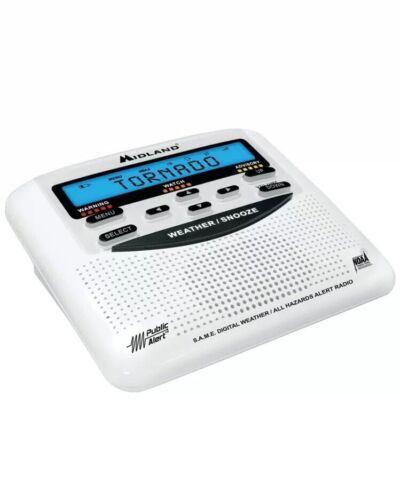 Midland WR-120EZ NOAA Public Alert Certified Weather Radio All Hazard with SAME