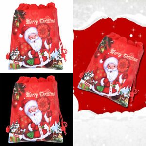image is loading xmas santa claus drawstring non woven cloth sack