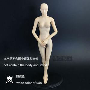 1:6 Figure White Repaint Female Headsculpt F JIAOUDOLL Body Without Body