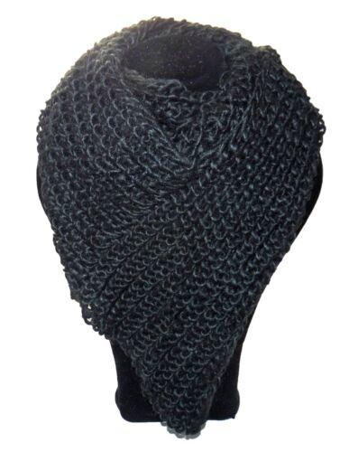Donna Loop Sciarpa TUBO TUBE Knitwear triangolo a punta TRIANGOLO BIANCO ROSSO NERO