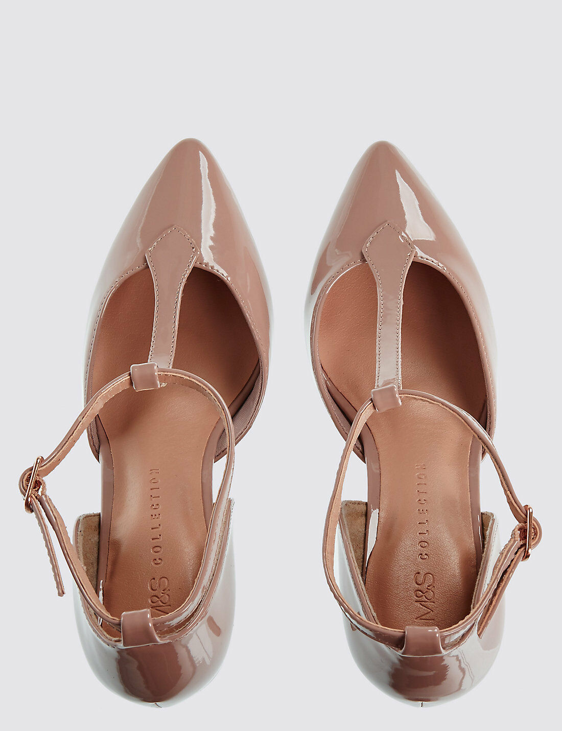 M&S  CARAMEL STILETTO COURT SHOES WITH INSOLIA FOR BEAUTIFUL WOMEN UK 7.5 & UK 8