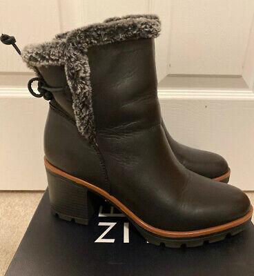 Naturalizer Womens Valene Faux Fur Lined Faux Fur Ankle Boots Shoes BHFO 3767